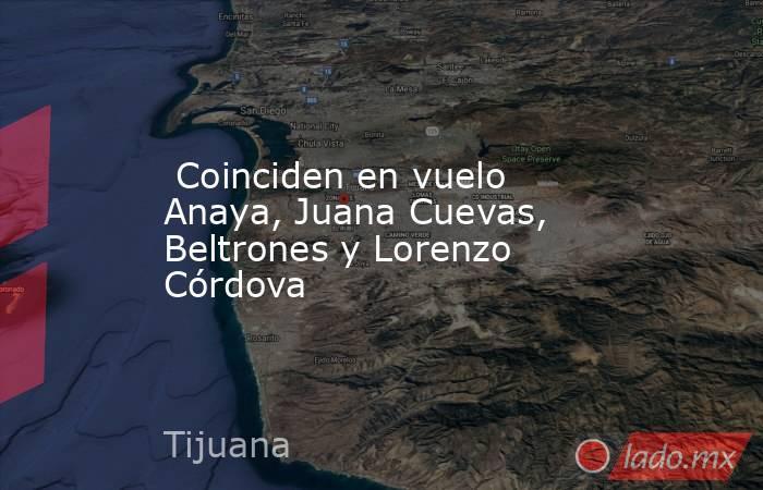 Coinciden en vuelo Anaya, Juana Cuevas, Beltrones y Lorenzo Córdova. Noticias en tiempo real
