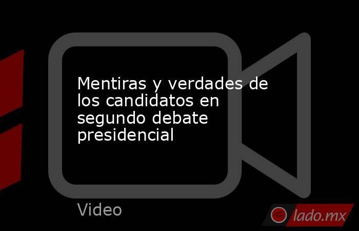 Mentiras y verdades de los candidatos en segundo debate presidencial. Noticias en tiempo real
