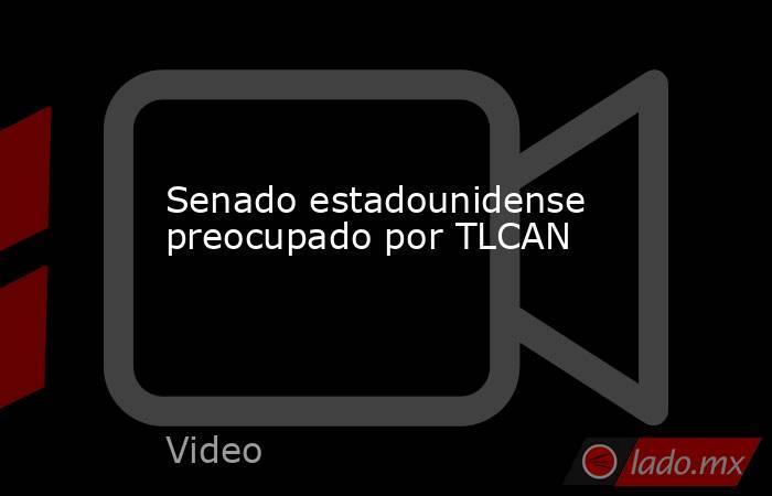 Senado estadounidense preocupado por TLCAN. Noticias en tiempo real