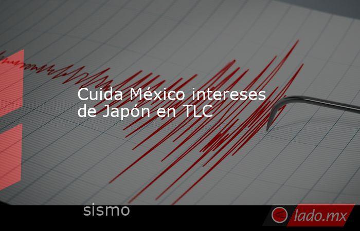 Cuida México intereses de Japón en TLC. Noticias en tiempo real