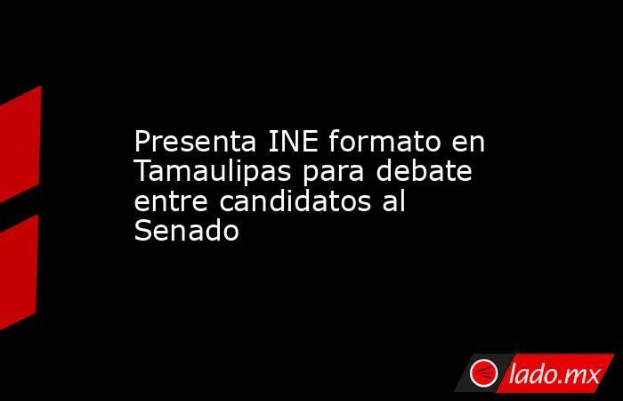 Presenta INE formato en Tamaulipas para debate entre candidatos al Senado. Noticias en tiempo real