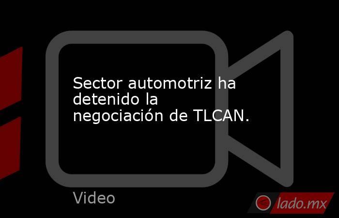 Sector automotriz ha detenido la negociación de TLCAN.. Noticias en tiempo real