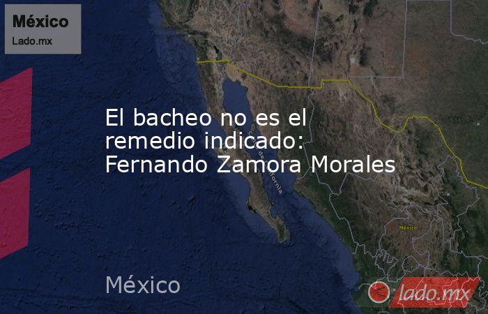 El bacheo no es el remedio indicado: Fernando Zamora Morales. Noticias en tiempo real