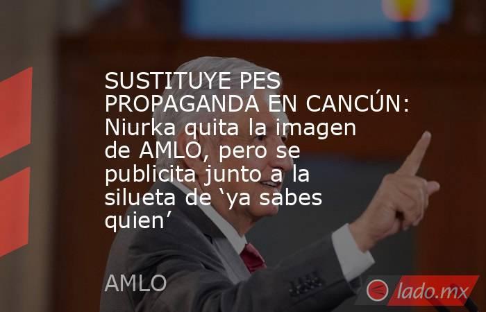 SUSTITUYE PES PROPAGANDA EN CANCÚN: Niurka quita la imagen de AMLO, pero se publicita junto a la silueta de 'ya sabes quien'. Noticias en tiempo real