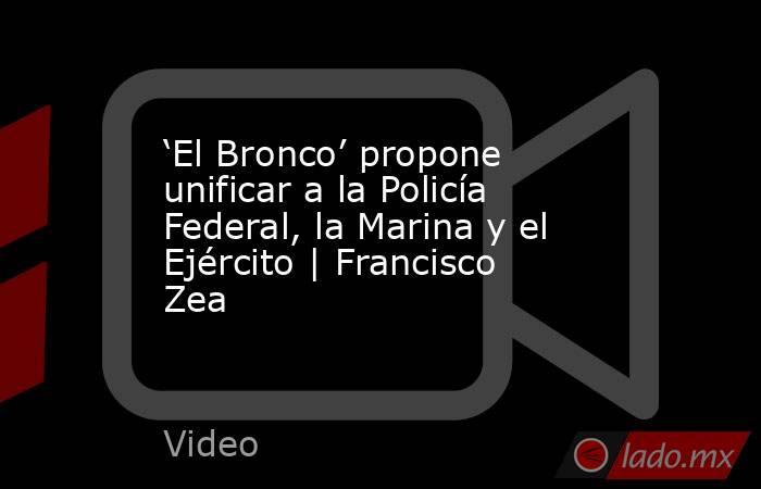 'El Bronco' propone unificar a la Policía Federal, la Marina y el Ejército | Francisco Zea. Noticias en tiempo real