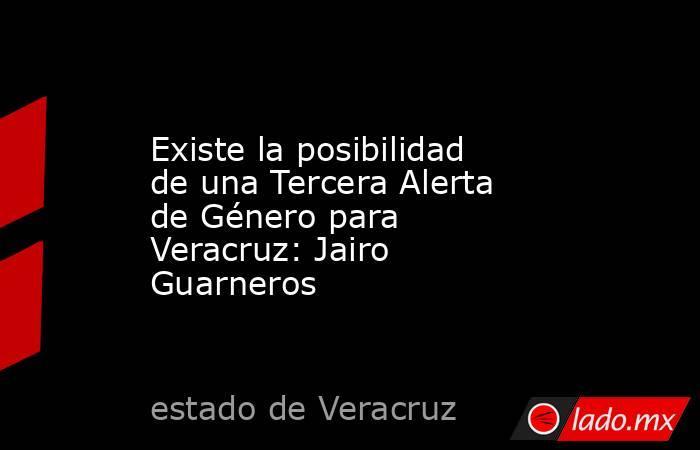 Existe la posibilidad de una Tercera Alerta de Género para Veracruz: Jairo Guarneros. Noticias en tiempo real