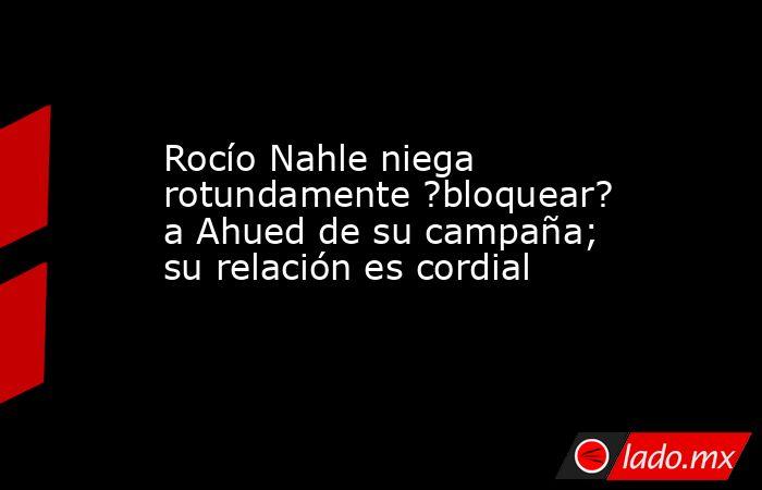 Rocío Nahle niega rotundamente ?bloquear? a Ahued de su campaña; su relación es cordial. Noticias en tiempo real