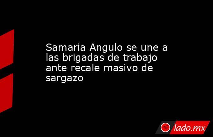 Samaria Angulo se une a las brigadas de trabajo ante recale masivo de sargazo. Noticias en tiempo real