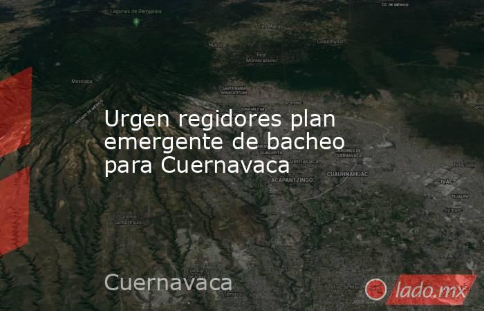 Urgen regidores plan emergente de bacheo para Cuernavaca. Noticias en tiempo real