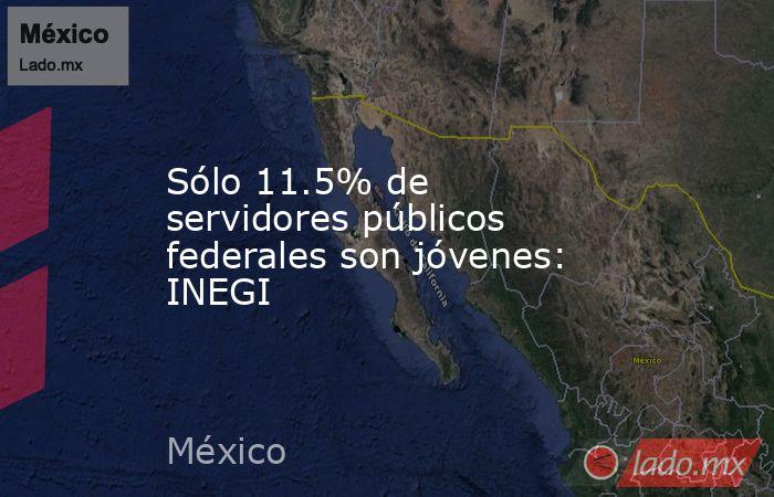 Sólo 11.5% de servidores públicos federales son jóvenes: INEGI. Noticias en tiempo real
