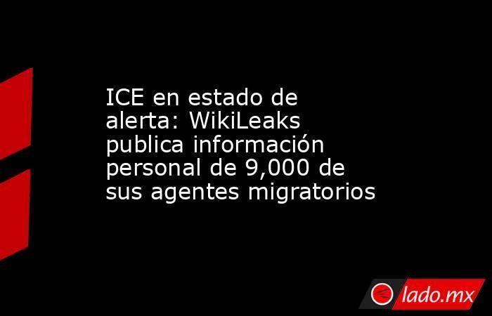 ICE en estado de alerta: WikiLeaks publica información personal de 9,000 de sus agentes migratorios. Noticias en tiempo real