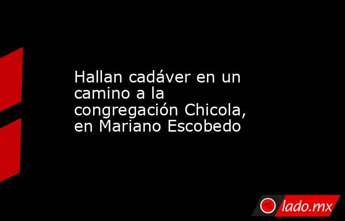 Hallan cadáver en un camino a la congregación Chicola, en Mariano Escobedo. Noticias en tiempo real