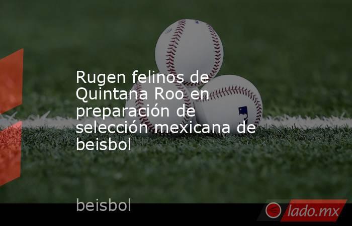Rugen felinos de Quintana Roo en preparación de selección mexicana de beisbol. Noticias en tiempo real