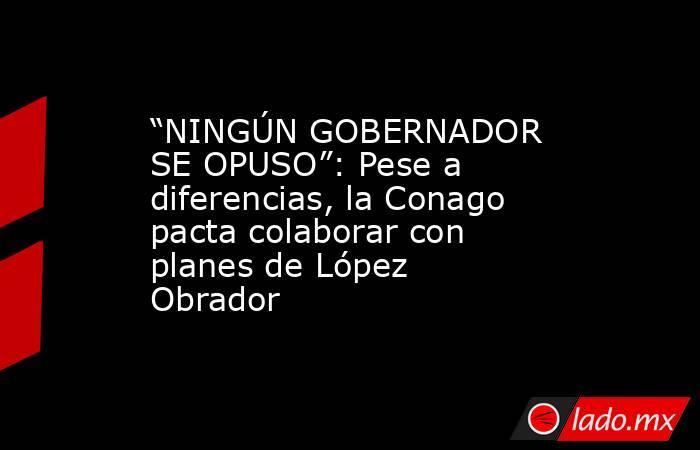 """""""NINGÚN GOBERNADOR SE OPUSO"""": Pese a diferencias, la Conago pacta colaborar con planes de López Obrador. Noticias en tiempo real"""