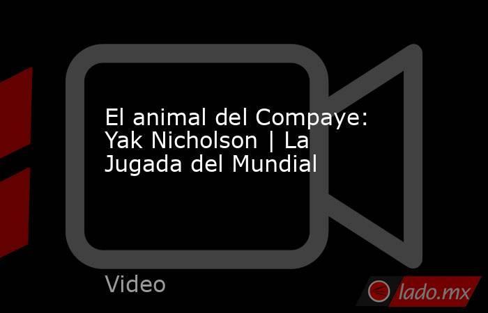 El animal del Compaye: Yak Nicholson | La Jugada del Mundial. Noticias en tiempo real