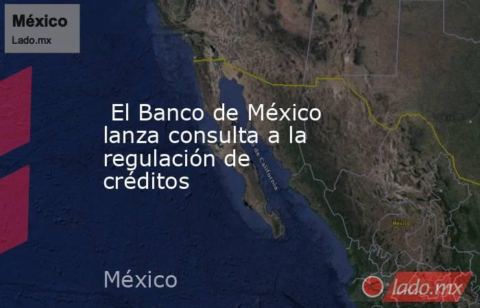 El Banco de México lanza consulta a la regulación de créditos. Noticias en tiempo real