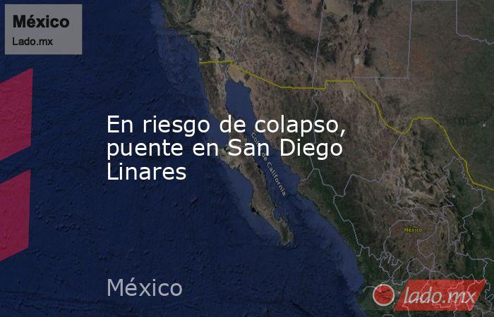 En riesgo de colapso, puente en San Diego Linares. Noticias en tiempo real
