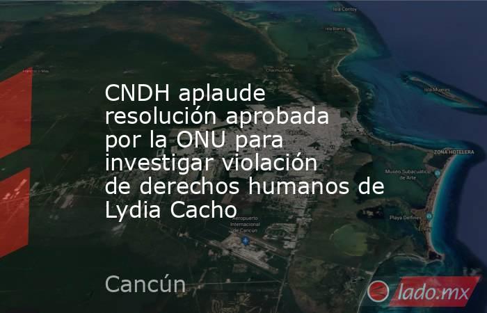 CNDH aplaude resolución aprobada por la ONU para investigar violación de derechos humanos de Lydia Cacho. Noticias en tiempo real