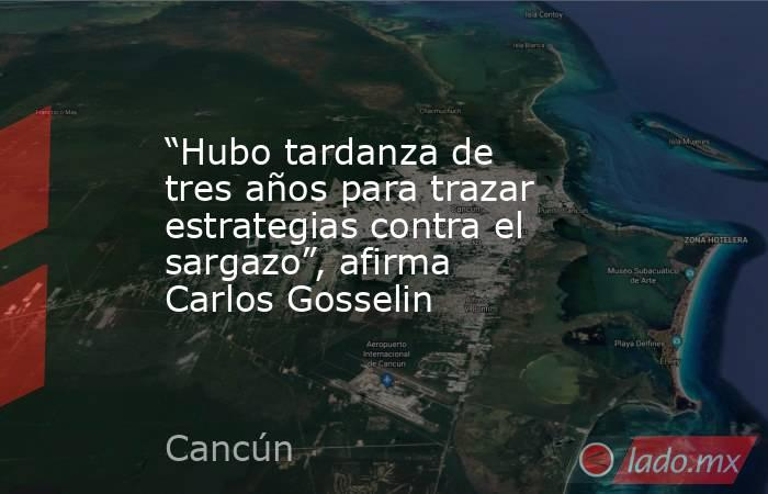 """""""Hubo tardanza de tres años para trazar estrategias contra el sargazo"""", afirma Carlos Gosselin. Noticias en tiempo real"""