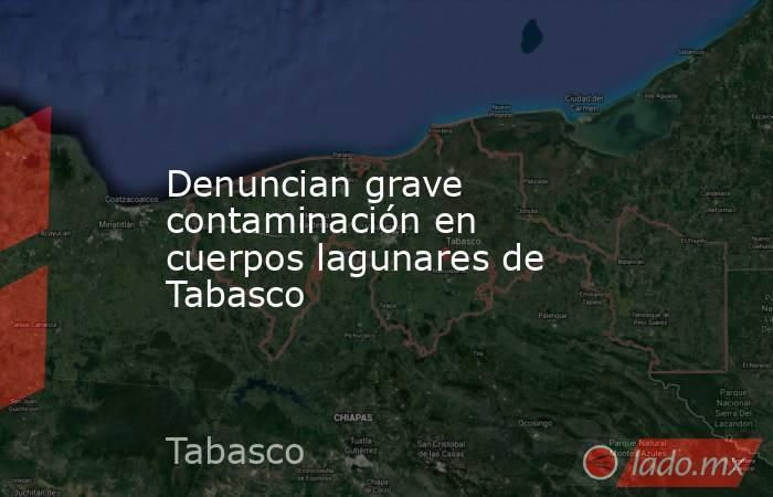 Denuncian grave contaminación en cuerpos lagunares de Tabasco. Noticias en tiempo real
