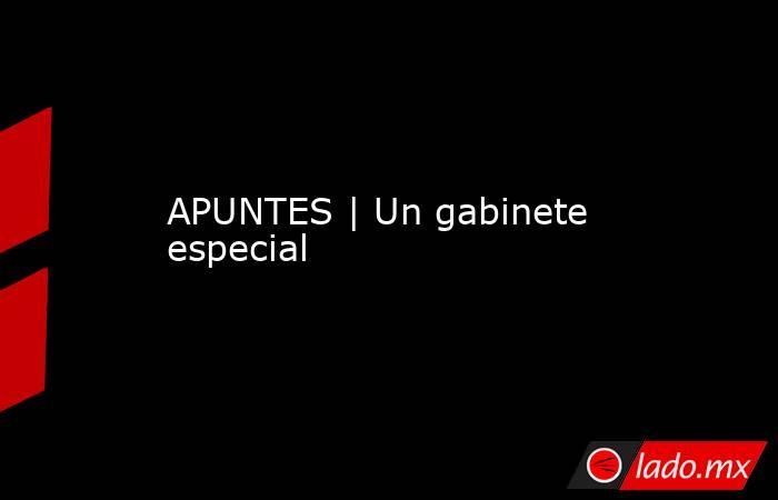 APUNTES | Un gabinete especial. Noticias en tiempo real