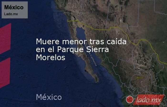 Muere menor tras caída en el Parque Sierra Morelos. Noticias en tiempo real