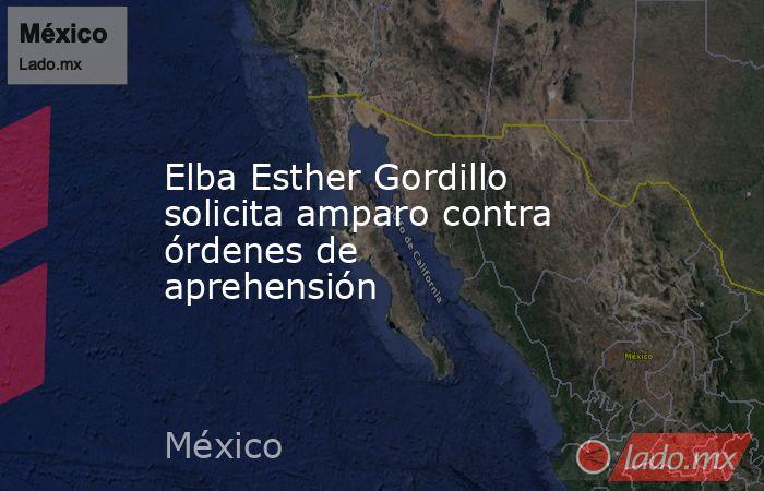 Elba Esther Gordillo solicita amparo contra órdenes de aprehensión. Noticias en tiempo real