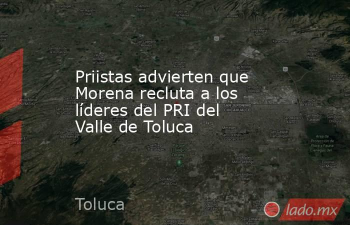 Priistas advierten que Morena recluta a los líderes del PRI del Valle de Toluca. Noticias en tiempo real