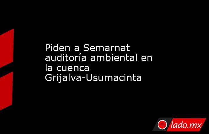 Piden a Semarnat auditoría ambiental en la cuenca Grijalva-Usumacinta. Noticias en tiempo real