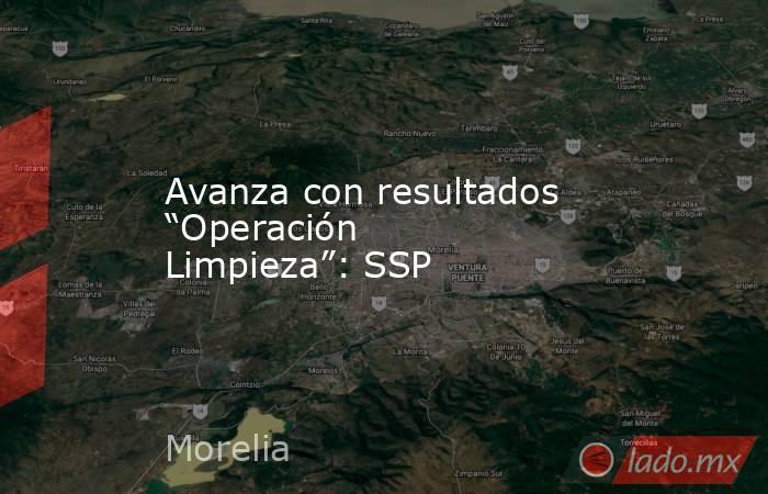 """Avanza con resultados """"Operación Limpieza"""": SSP. Noticias en tiempo real"""