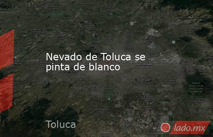 Nevado de Toluca se pinta de blanco. Noticias en tiempo real