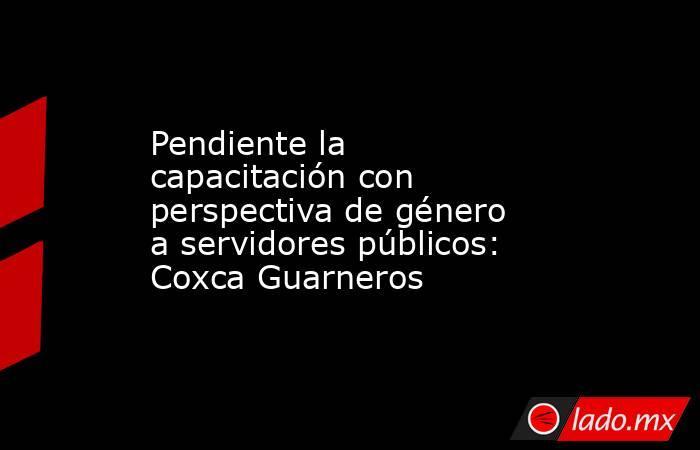 Pendiente la capacitación con perspectiva de género a servidores públicos: Coxca Guarneros. Noticias en tiempo real