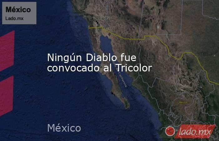 Ningún Diablo fue convocado al Tricolor. Noticias en tiempo real