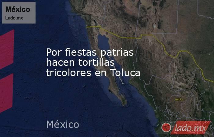 Por fiestas patrias hacen tortillas tricolores en Toluca. Noticias en tiempo real