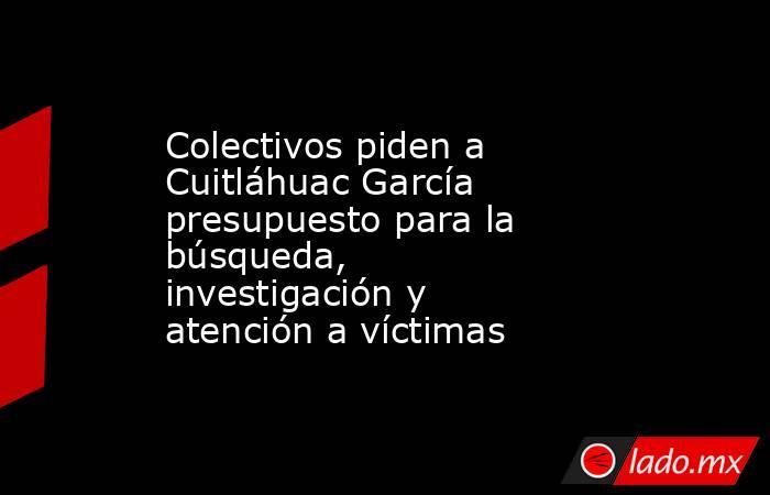 Colectivos piden a Cuitláhuac García presupuesto para la búsqueda, investigación y atención a víctimas. Noticias en tiempo real