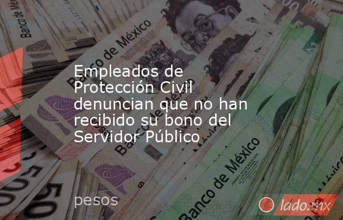 Empleados de Protección Civil denuncian que no han recibido su bono del Servidor Público. Noticias en tiempo real