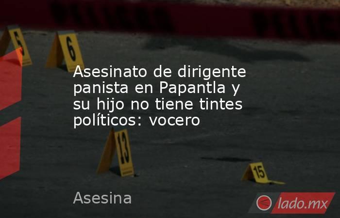 Asesinato de dirigente panista en Papantla y su hijo no tiene tintes políticos: vocero. Noticias en tiempo real