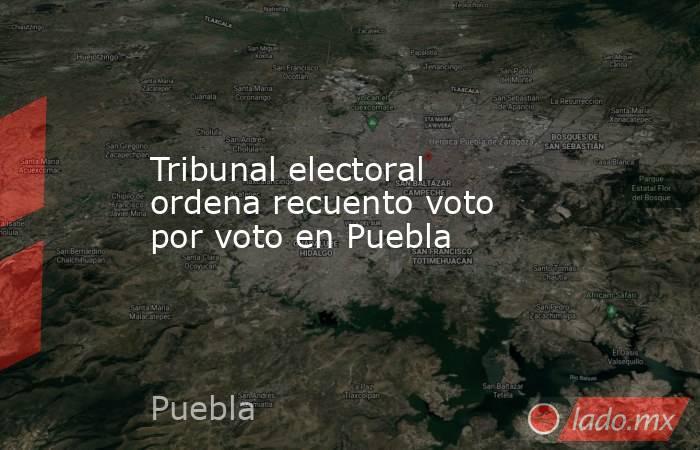 Tribunal electoral ordena recuento voto por voto en Puebla. Noticias en tiempo real