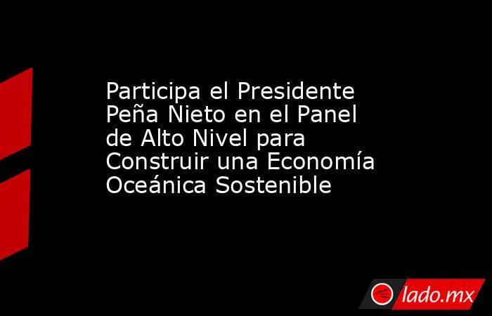 Participa el Presidente Peña Nieto en el Panel de Alto Nivel para Construir una Economía Oceánica Sostenible. Noticias en tiempo real