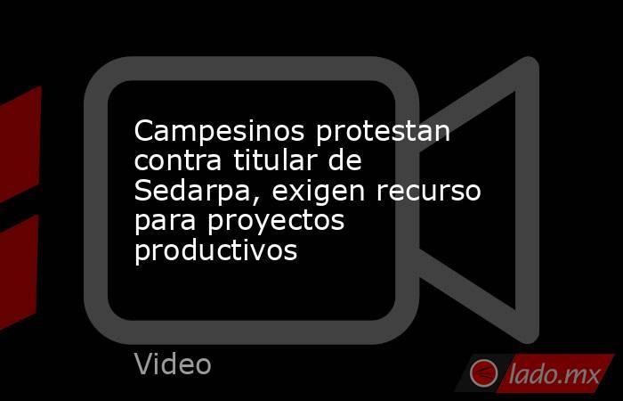 Campesinos protestan contra titular de Sedarpa, exigen recurso para proyectos productivos. Noticias en tiempo real