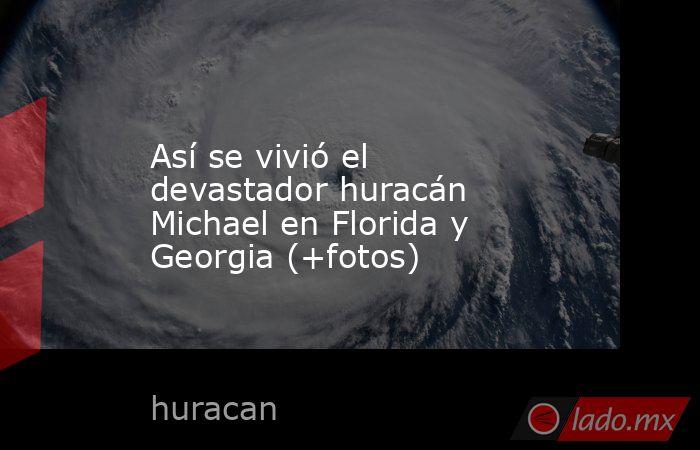 Así se vivió el devastador huracán Michael en Florida y Georgia (+fotos). Noticias en tiempo real