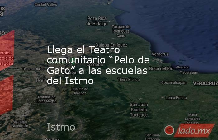 """Llega el Teatro comunitario """"Pelo de Gato"""" a las escuelas del Istmo. Noticias en tiempo real"""