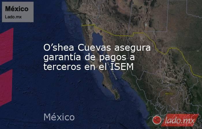 O'shea Cuevas asegura garantía de pagos a terceros en el ISEM. Noticias en tiempo real