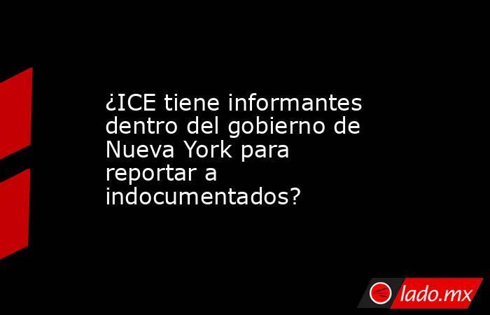 ¿ICE tiene informantes dentro del gobierno de Nueva York para reportar a indocumentados?. Noticias en tiempo real