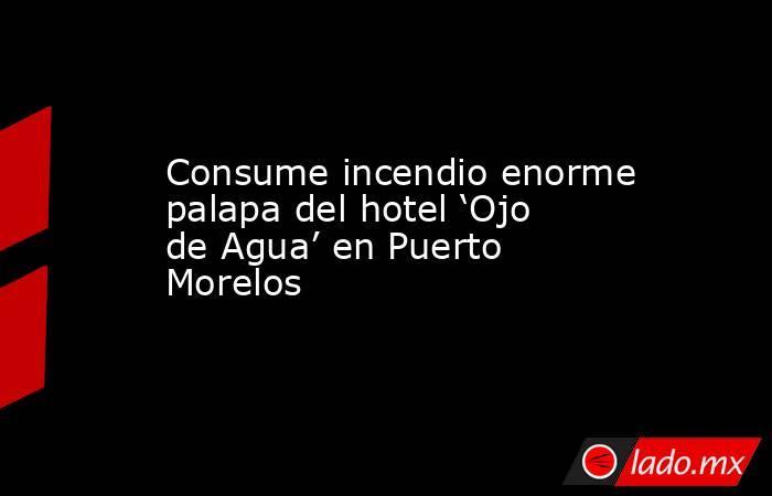 Consume incendio enorme palapa del hotel 'Ojo de Agua' en Puerto Morelos. Noticias en tiempo real