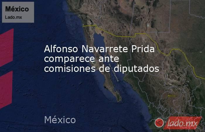 Alfonso Navarrete Prida comparece ante comisiones de diputados. Noticias en tiempo real