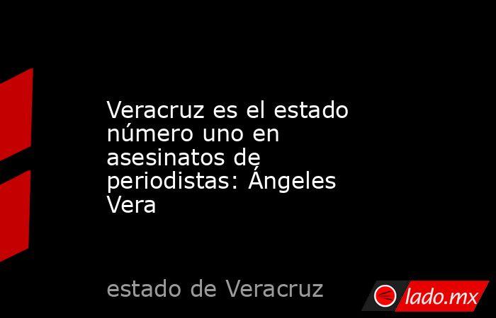 Veracruz es el estado número uno en asesinatos de periodistas: Ángeles Vera. Noticias en tiempo real