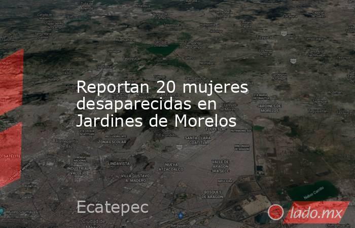 Reportan 20 mujeres desaparecidas en Jardines de Morelos. Noticias en tiempo real