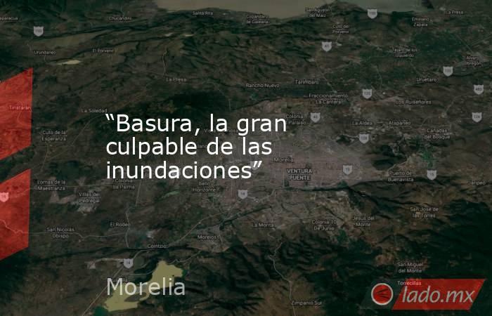 """""""Basura, la gran culpable de las inundaciones"""". Noticias en tiempo real"""