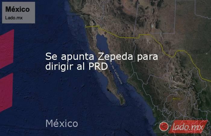 Se apunta Zepeda para dirigir al PRD. Noticias en tiempo real